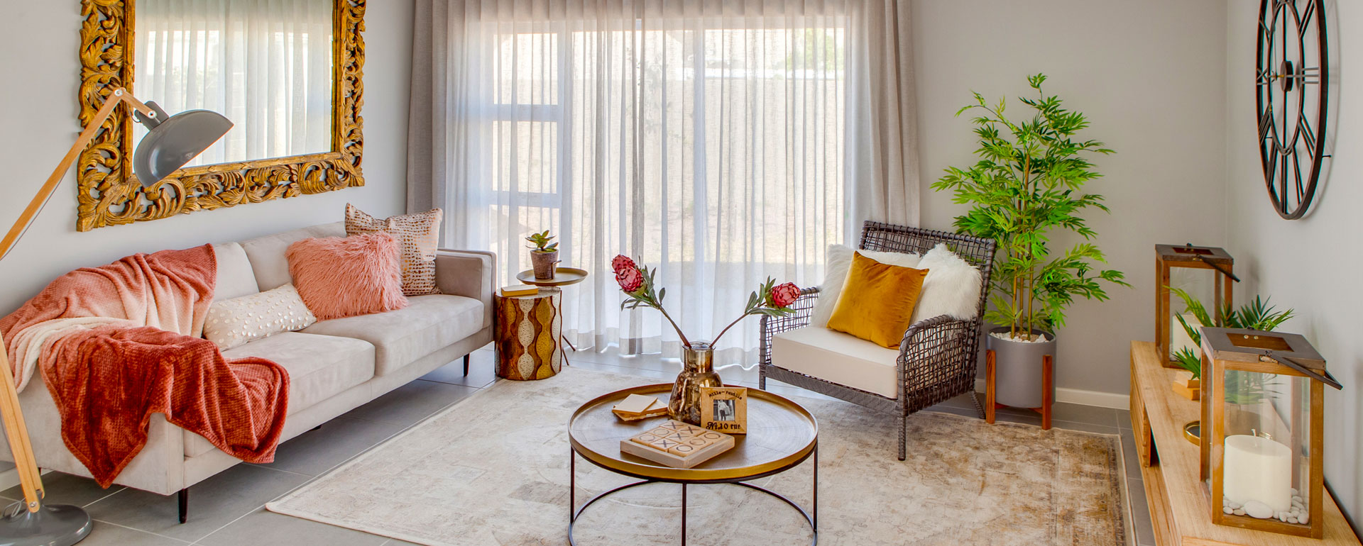 Bespoke interior design & decorating services, window treatments such as curtains or blinds